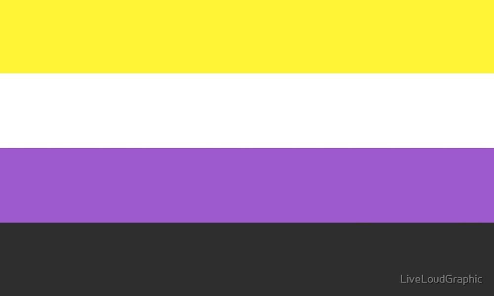 Solid Non-Binary Pride Flag by LiveLoudGraphic