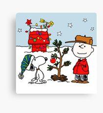 SNOOPY CHARLIE BROWN CHRISTMAS Canvas Print