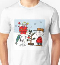 SNOOPY CHARLIE BROWN CHRISTMAS Unisex T-Shirt