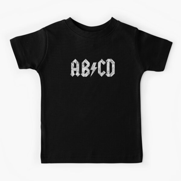 ABCD - Distressed White Edition Kids T-Shirt