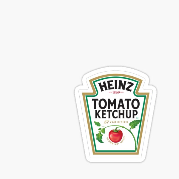 Tomato Ketchup he inz Sticker