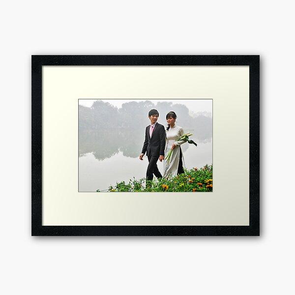 A wedding in Hanoi Framed Art Print