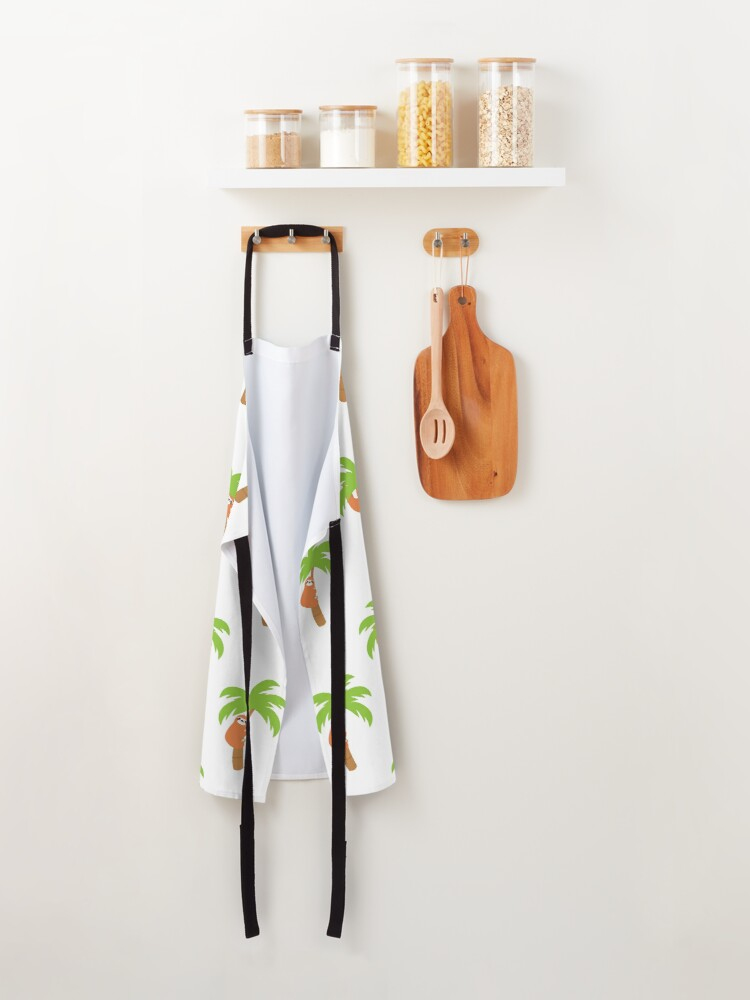 Alternate view of Sloth Hanging on Coconut Tree Apron