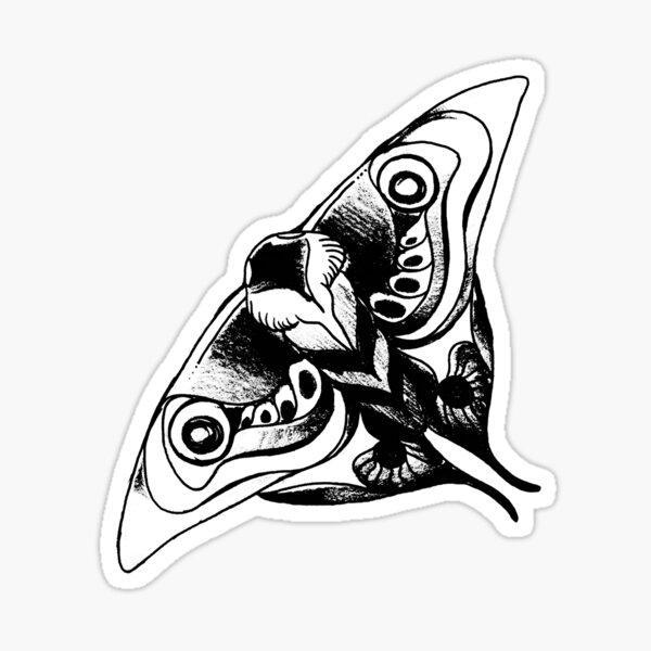 Polilla de Ellies Tattoo | El último de nosotros parte 2 Pegatina