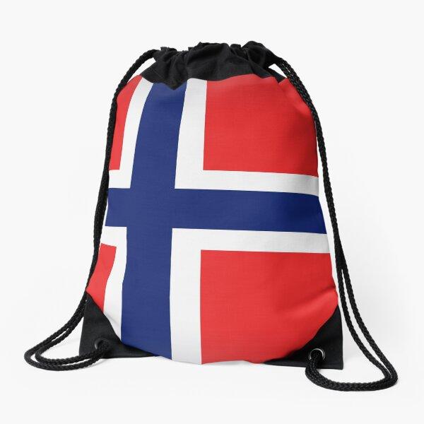 leo • theo | Norwegian Flag Drawstring Bag