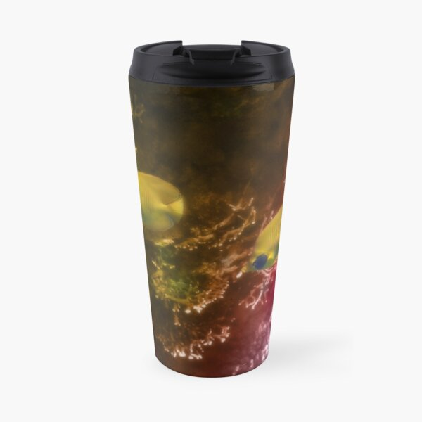 The Lovely Masked Butterflyfish In The Red Sea Travel Mug