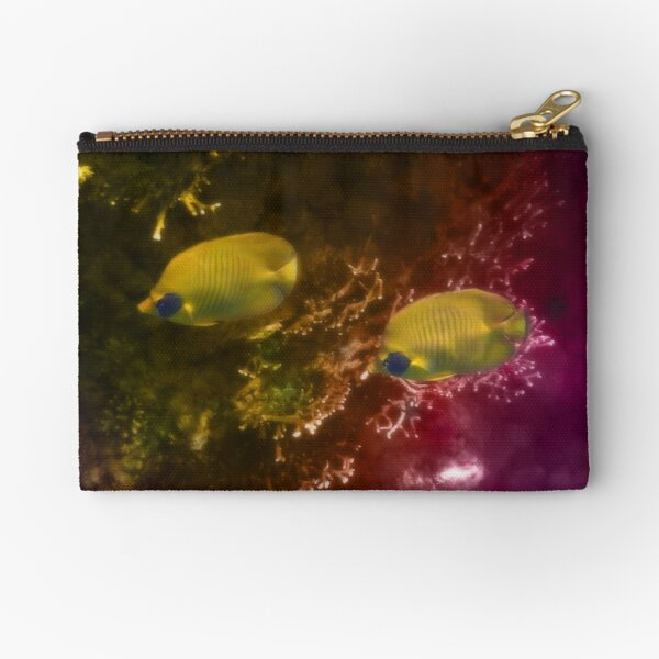 The Lovely Masked Butterflyfish In The Red Sea Zipper Pouch