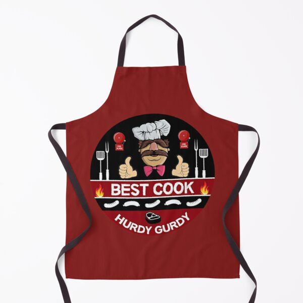 Hurdy Gurdy Bork Bork Cook - Bad Cook Gifts - Lazy Cooks - Funny Swedish Chef Apron