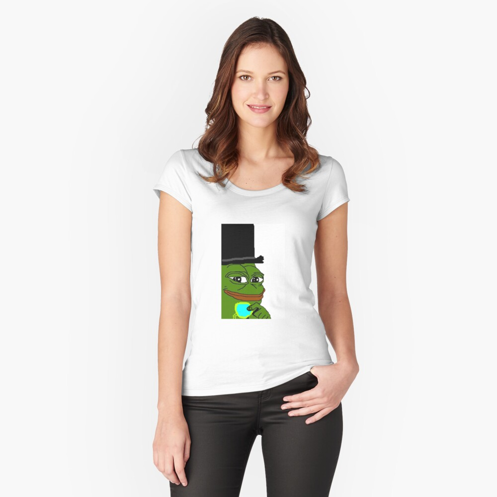 Dapper Top Hat Pepe | Women's Fitted Scoop T-Shirt