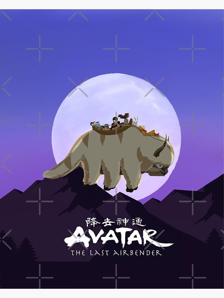 Team Avatar on Appa by malice7222