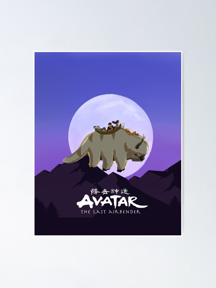 Alternate view of Team Avatar on Appa Poster