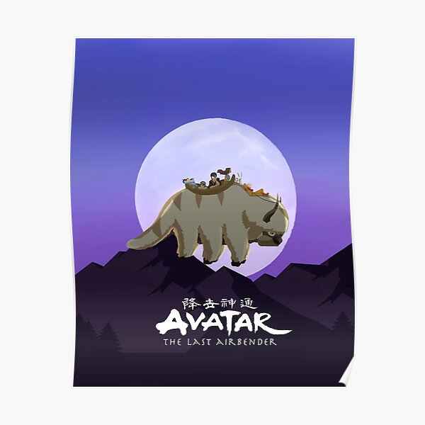 Team Avatar on Appa Poster