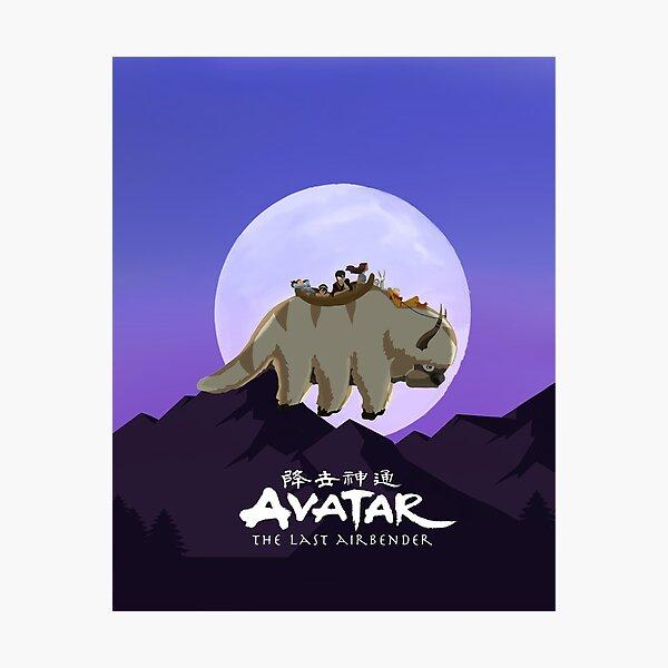 Team Avatar on Appa Photographic Print