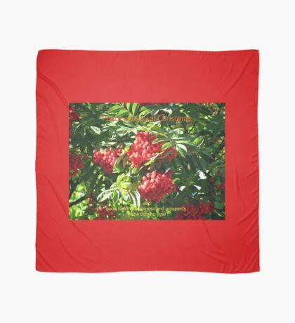 Red Rowan Berries Christmas Card Tuch