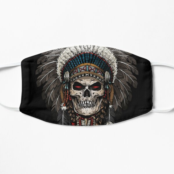 Warrior of indian skull Flat Mask