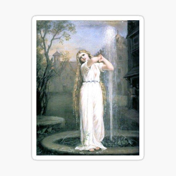 Undine (1872) by John William Waterhouse Sticker
