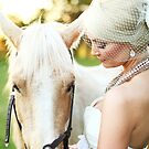 brides & horse just go together by Kendal Dockery