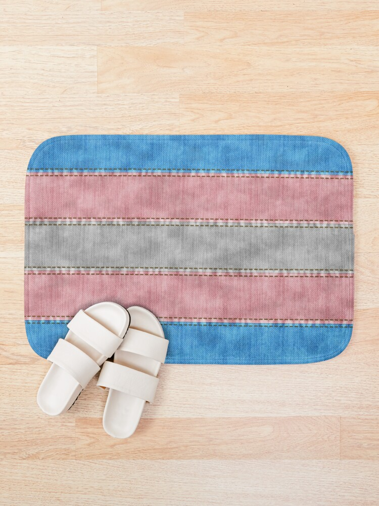 Alternate view of Transgender Denim Flag Bath Mat