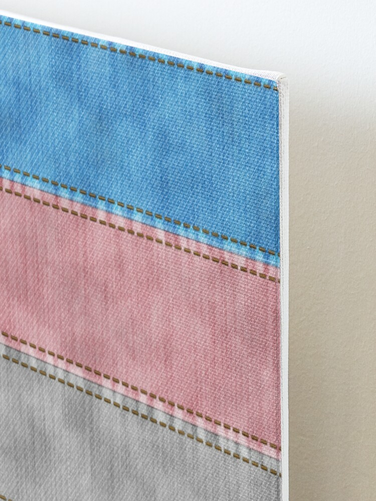 Alternate view of Transgender Denim Flag Mounted Print