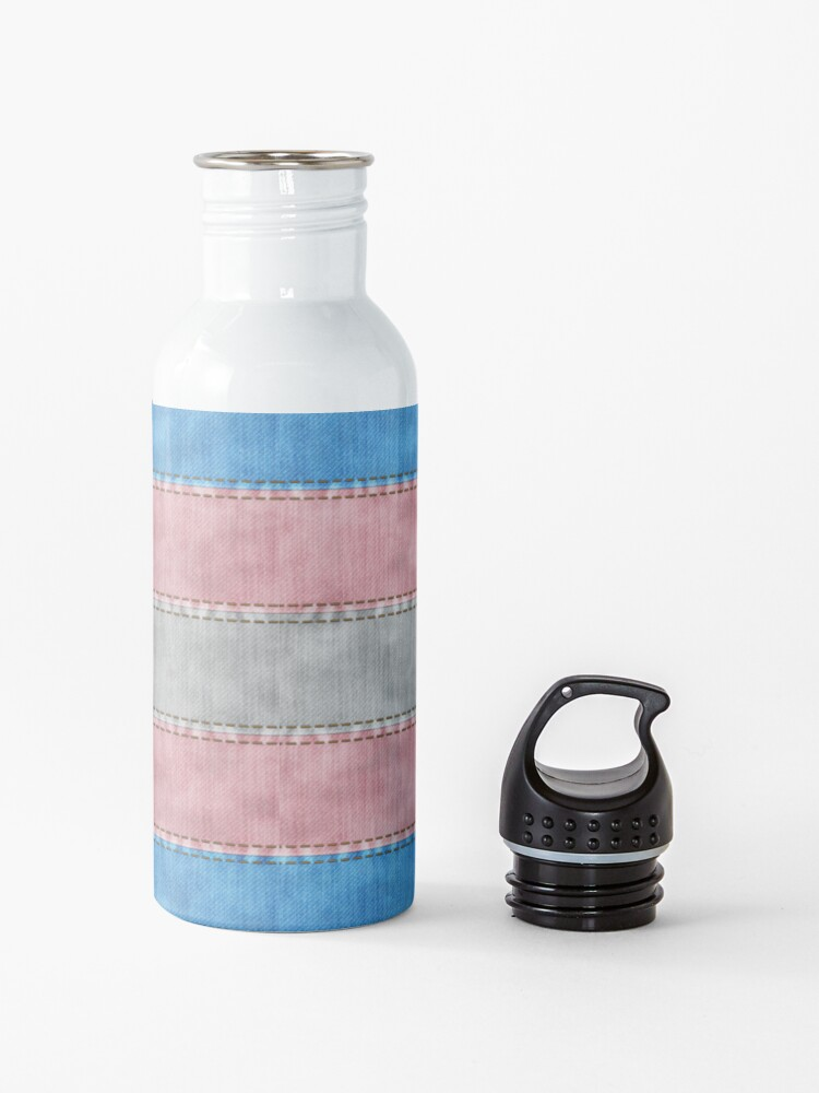 Alternate view of Transgender Denim Flag Water Bottle
