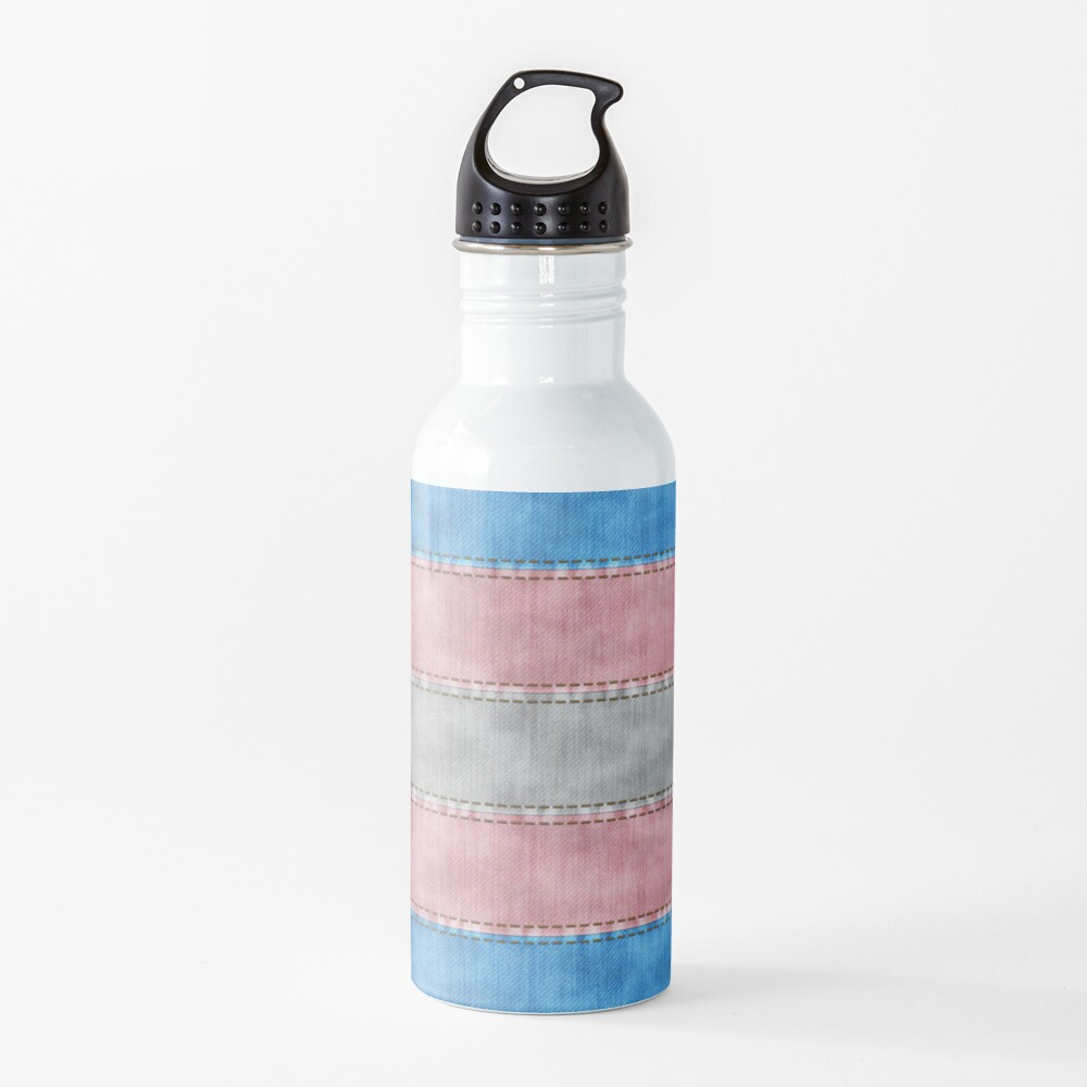 Transgender Denim Flag Water Bottle