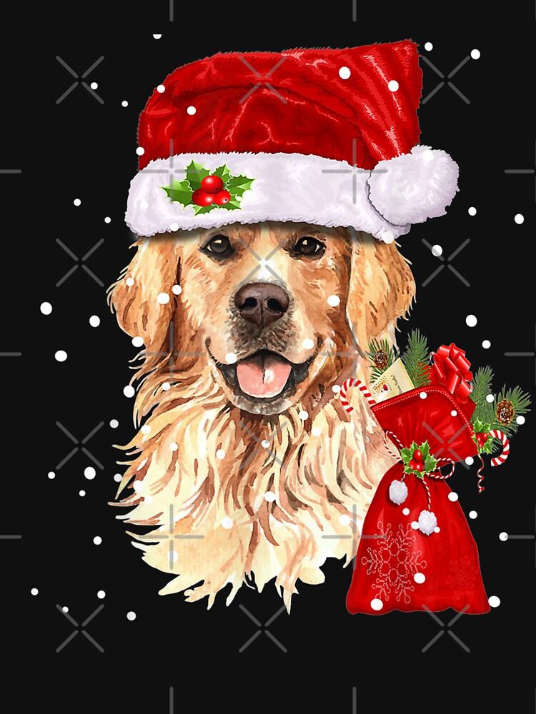 Golden Retriever Dog Christmas Holiday Gift  by EliyahuGanel