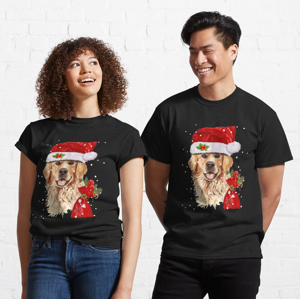 Golden Retriever Dog Christmas Holiday Gift  Classic T-Shirt