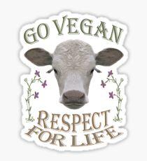 GO VEGAN - RESPECT FOR LIFE Sticker