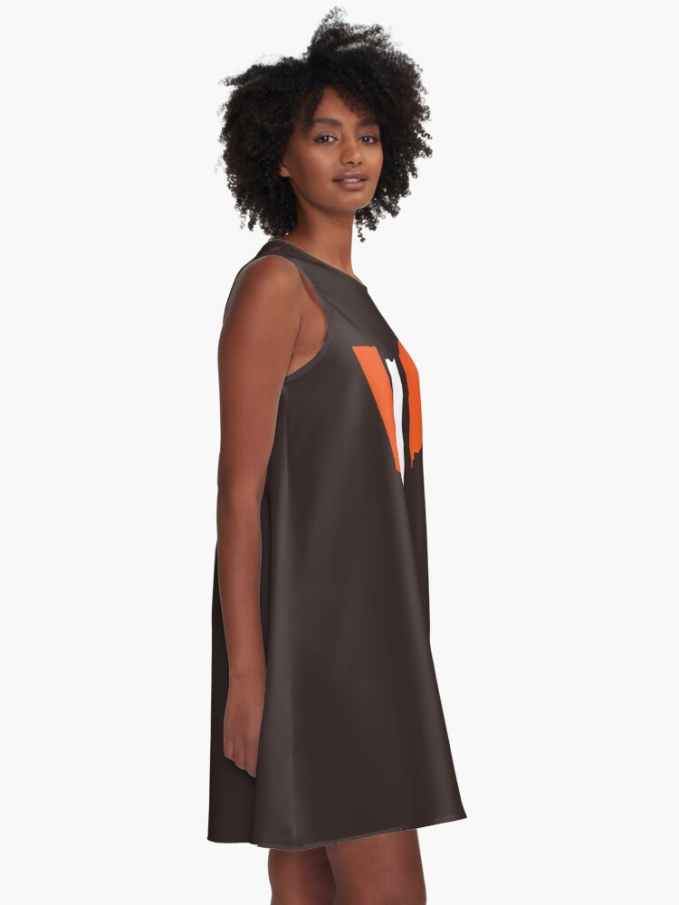 Alternate view of Cleveland Browns Stripe A-Line Dress