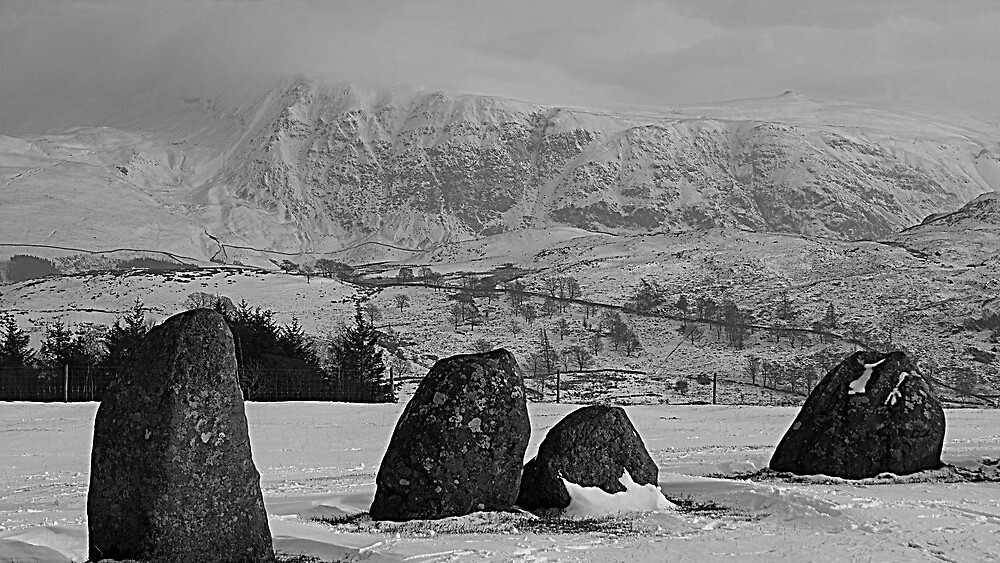 Castlerigg Stone Circle and Great Dodd. by Lou Wilson