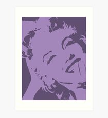Marilyn pop Art Purple Art Print