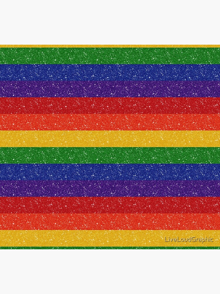 Faux Glitter Rainbow Pride Flag by LiveLoudGraphic