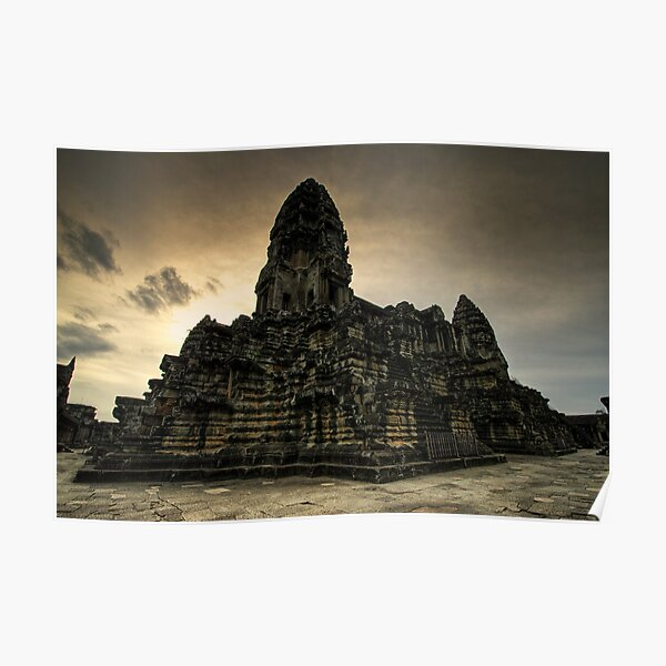 Center Stones, Angkor Wat, Cambodia Poster