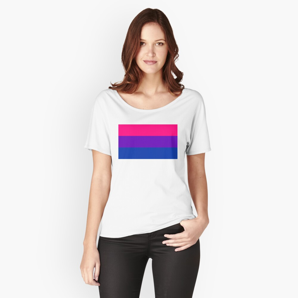 Solid Bisexual Pride Flag Relaxed Fit T-Shirt