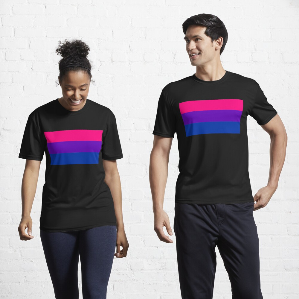 Solid Bisexual Pride Flag Active T-Shirt