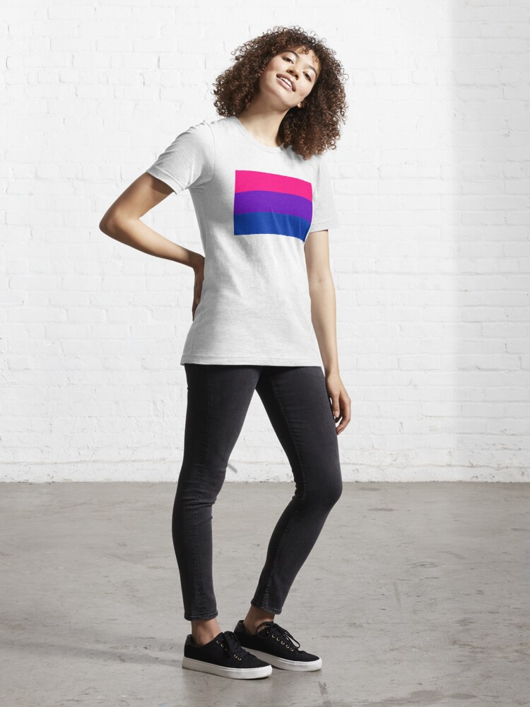 Alternate view of Solid Bisexual Pride Flag Essential T-Shirt