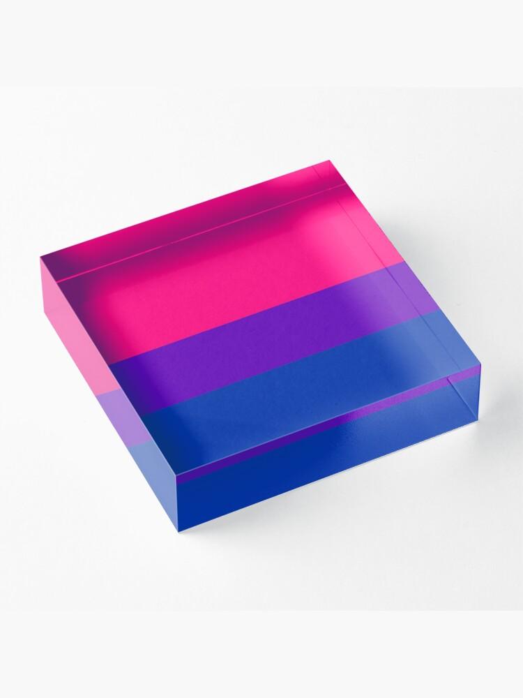 Alternate view of Solid Bisexual Pride Flag Acrylic Block