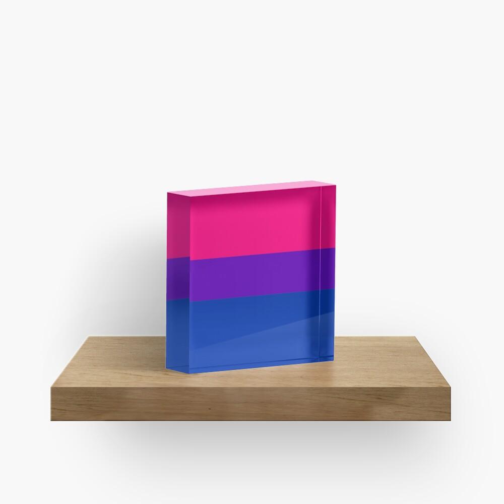 Solid Bisexual Pride Flag Acrylic Block