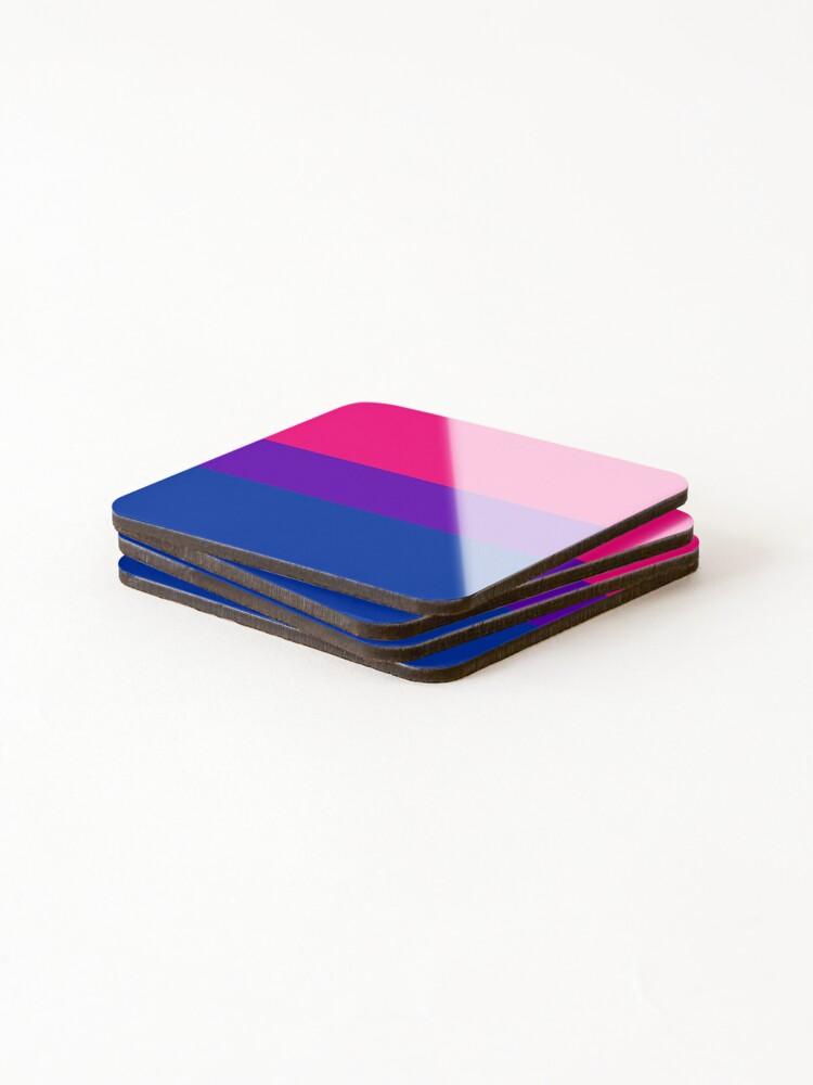 Alternate view of Solid Bisexual Pride Flag Coasters (Set of 4)