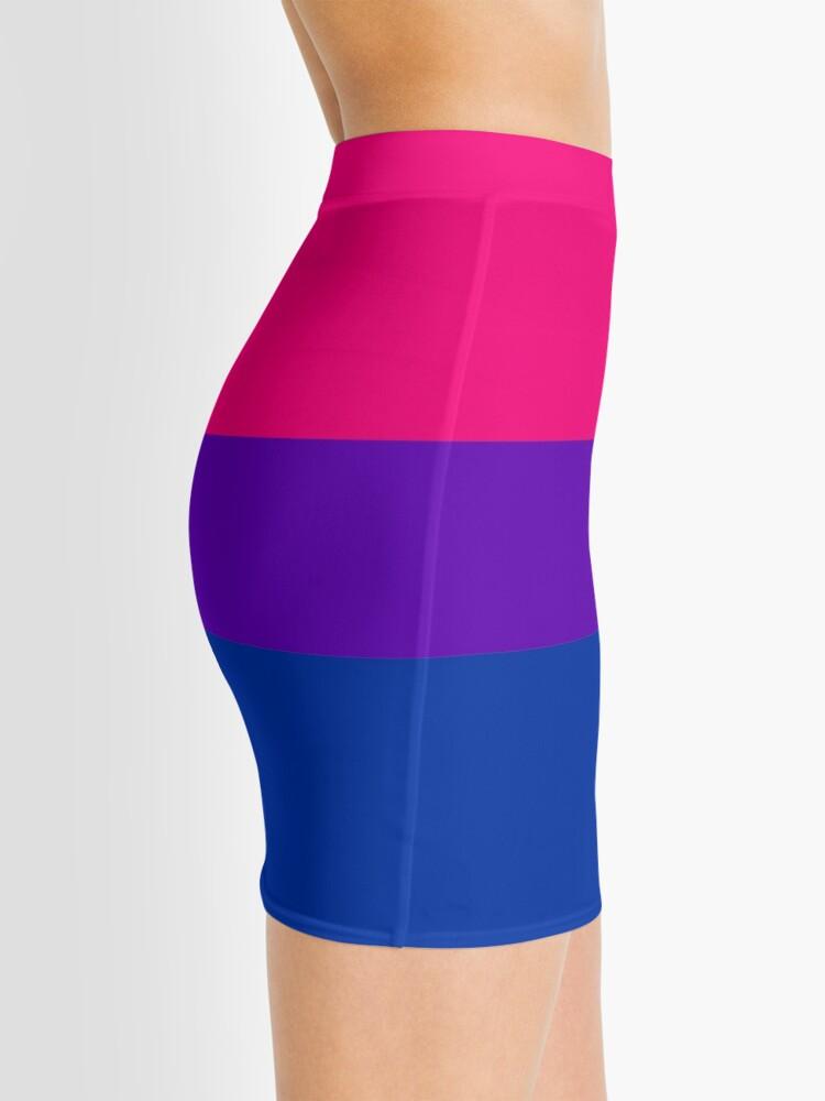Alternate view of Solid Bisexual Pride Flag Mini Skirt