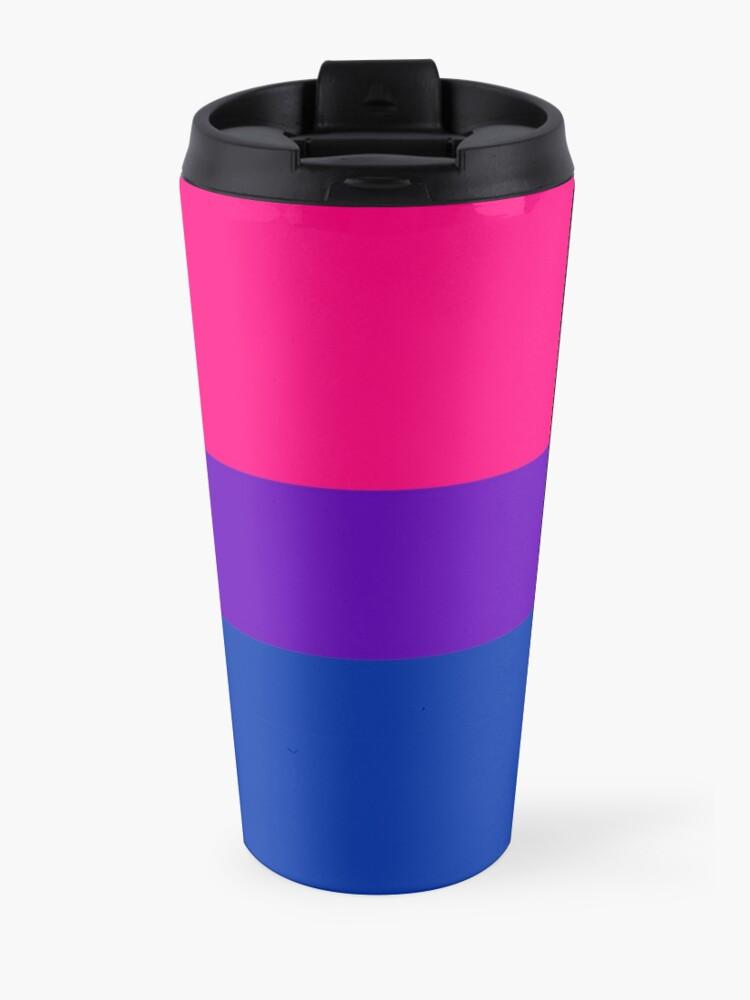 Alternate view of Solid Bisexual Pride Flag Travel Mug