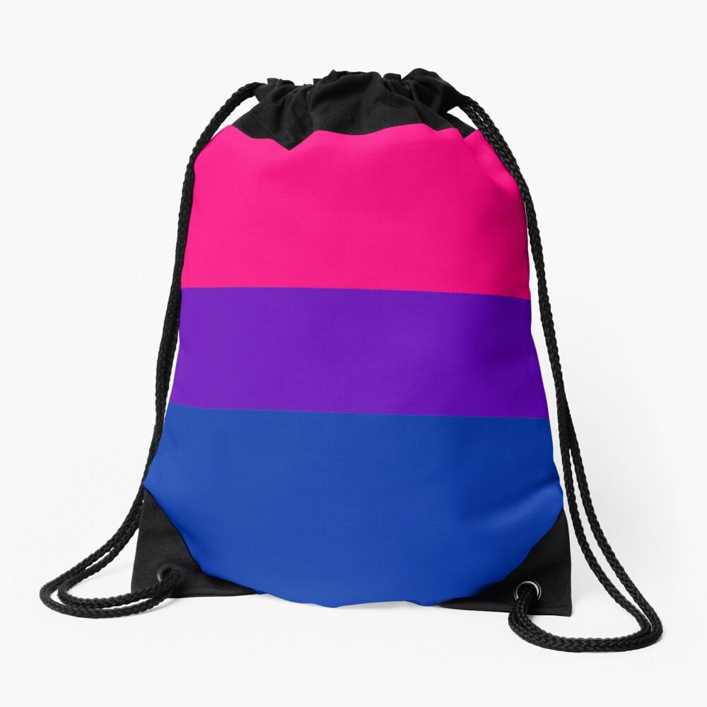 Solid Bisexual Pride Flag Drawstring Bag