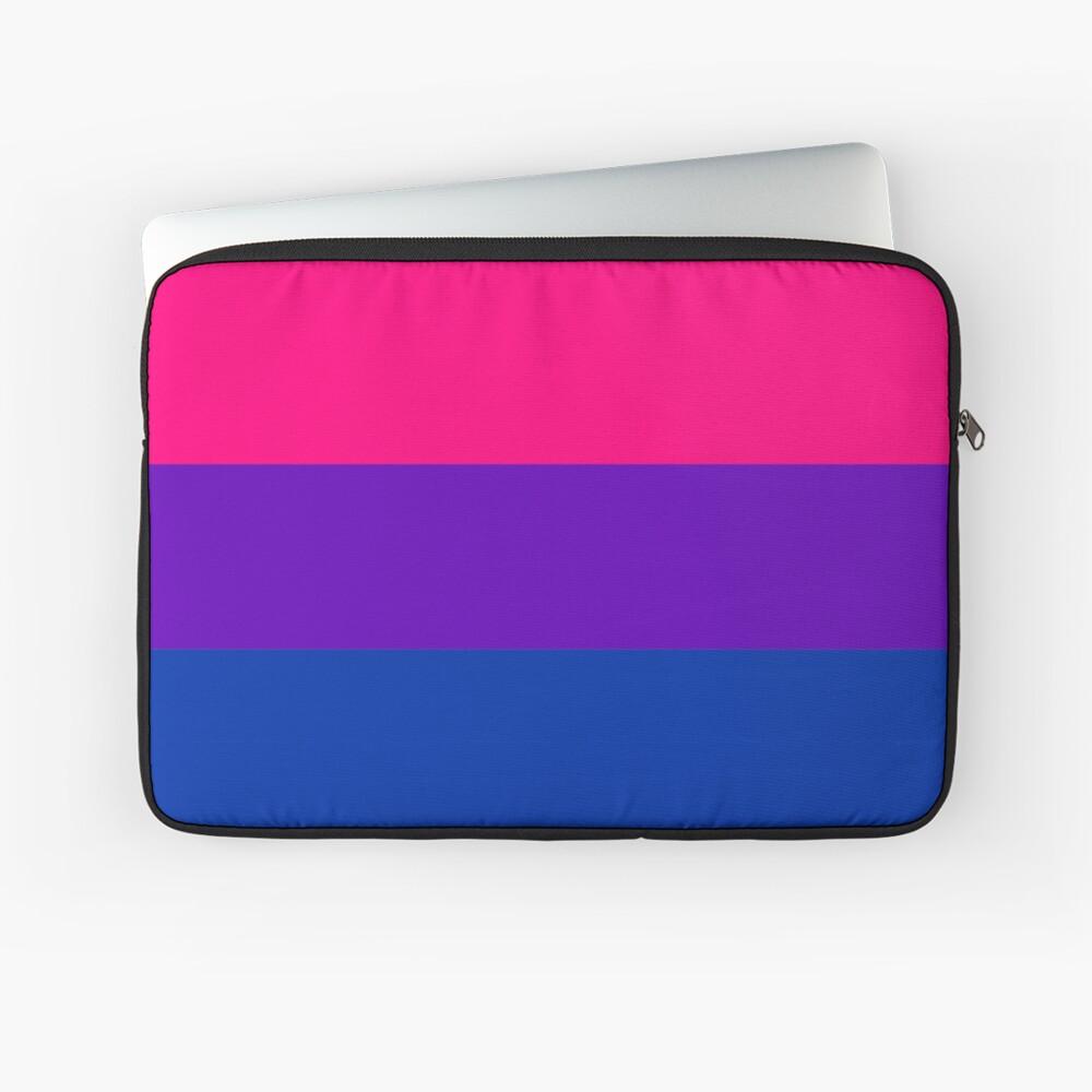 Solid Bisexual Pride Flag Laptop Sleeve