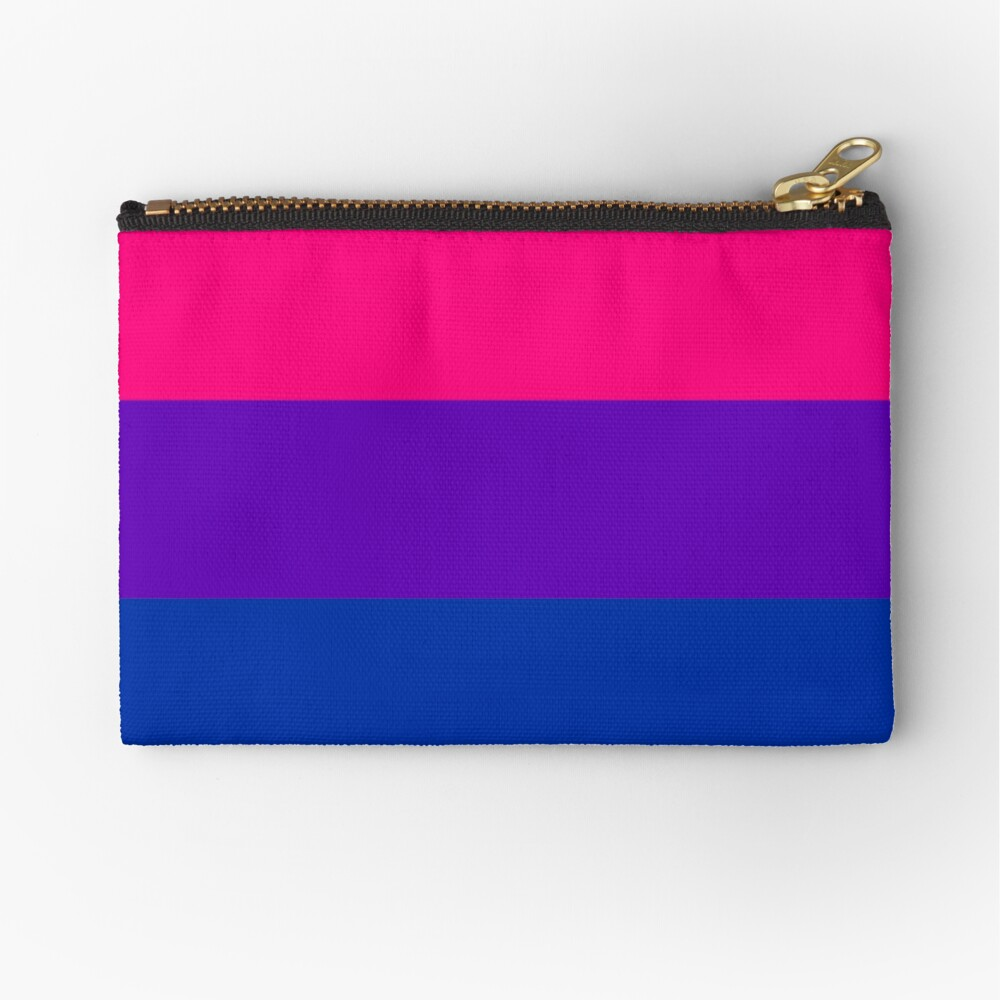 Solid Bisexual Pride Flag Zipper Pouch