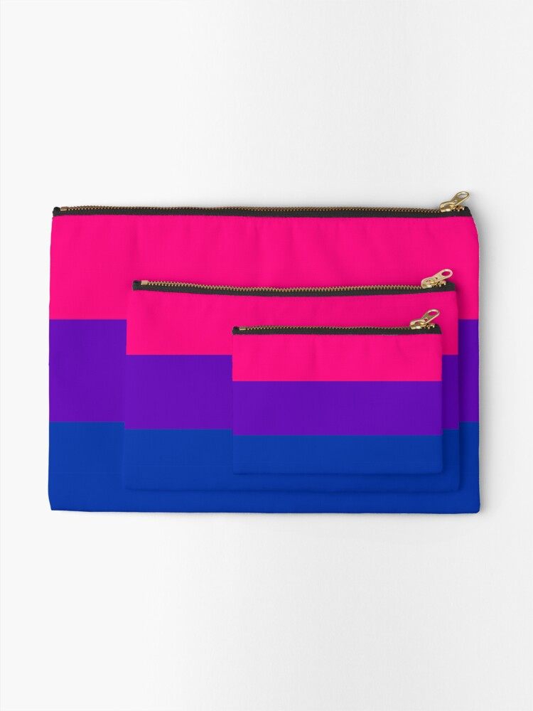 Alternate view of Solid Bisexual Pride Flag Zipper Pouch