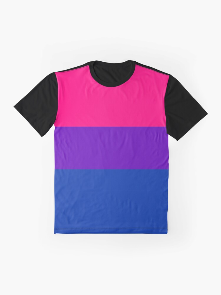 Alternate view of Solid Bisexual Pride Flag Graphic T-Shirt