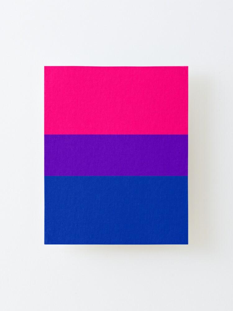 Alternate view of Solid Bisexual Pride Flag Mounted Print
