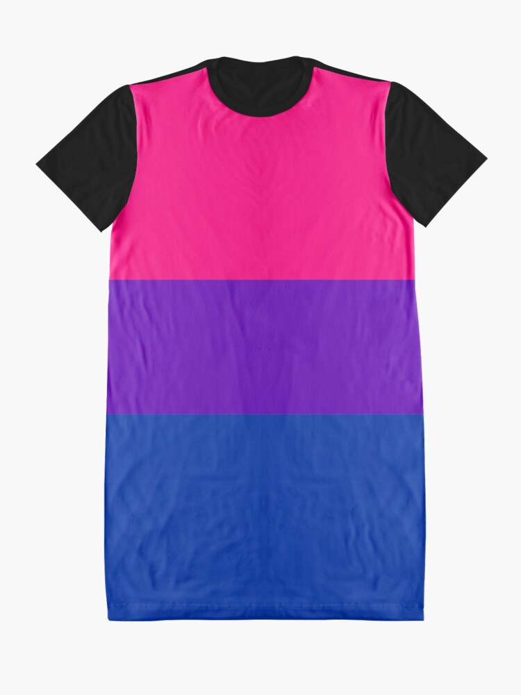 Alternate view of Solid Bisexual Pride Flag Graphic T-Shirt Dress
