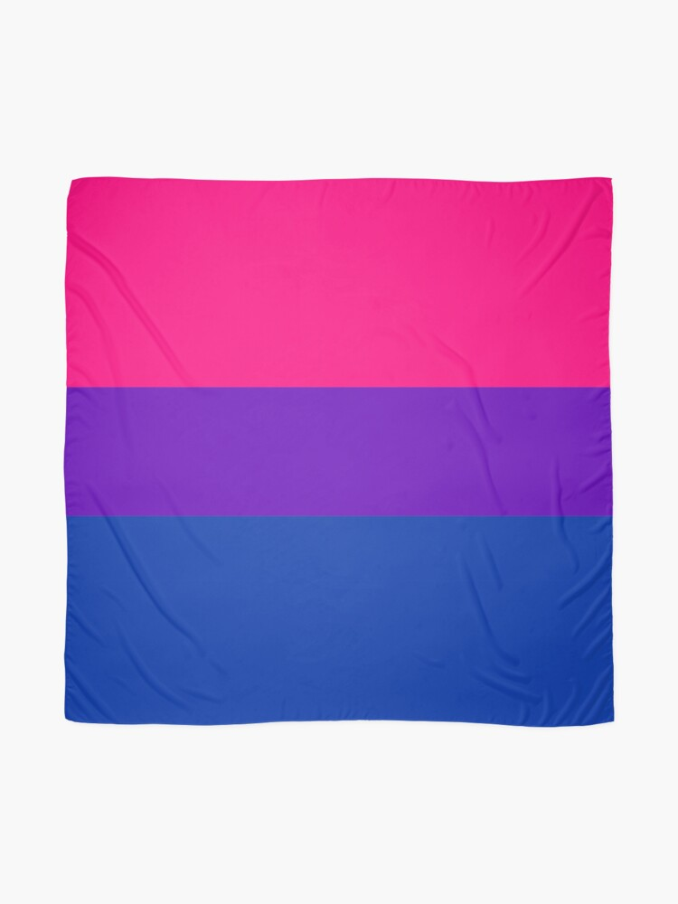 Alternate view of Solid Bisexual Pride Flag Scarf