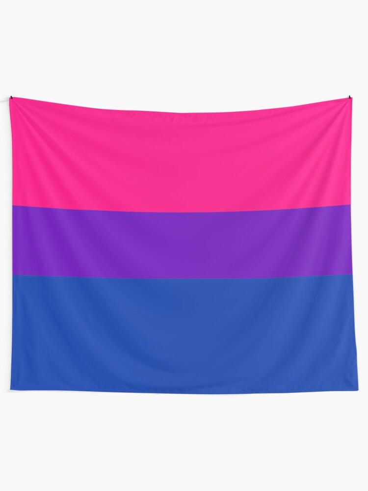 Alternate view of Solid Bisexual Pride Flag Tapestry